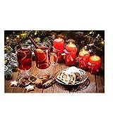 Pastel de navidad vela bebida lienzo escandinavo carteles e impresiones cocina arte de la pared imágenes de alimentos sala de estar dormitorio cocina sin marco pintura decorativa Z73 30x40cm