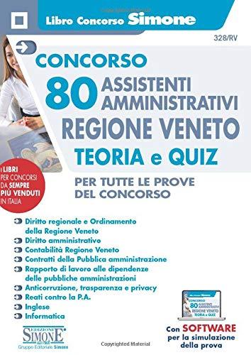 Concorso 80 Assistenti Amministrativi Regione Veneto - Teoria e Quiz