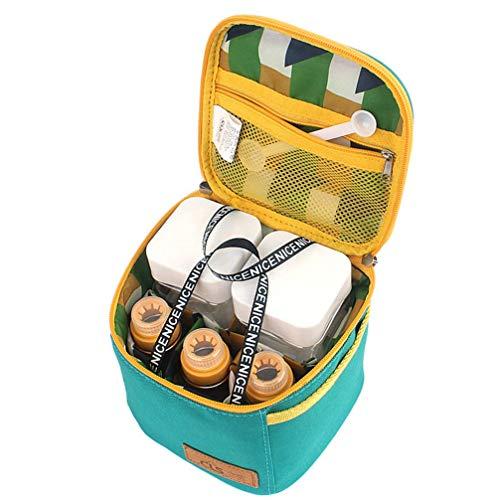 Manyao di alta qualità Mini plastica Spice vasetti Bottiglie Portable Spice contenitori di condimento Vasi condimento Box contenitori con coperchi for la cucina all'aperto barbecue (Borsa Verde)