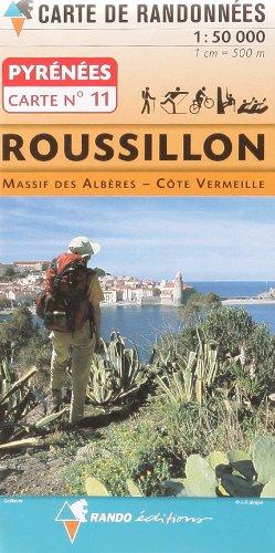 Pyrénées carte 11 Roussillon - Massif des Albères - Côte Vermeille  1 : 50 000: Carte de Randonnées (CARTES PYRENEES - 1/50.000)