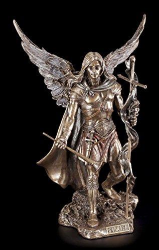 Erzengel Gabriel Figur mit Stab und Trompete mittel - Veronese