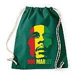 TRVPPY Baumwoll Turnbeutel Sportbeutel Modell Bob Marley in verschiedenen Farben -