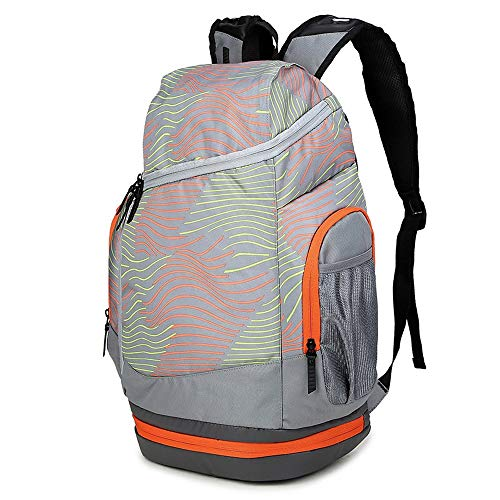 VINTAG Fashion backpack large capacity bottom zip pocket for basketball storage, men's outdoor waterproof and breathable sports backpack, travel hiking camping backpack bicycle bag