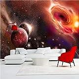 Personalizar Mural De Pared Premium Photo Creative Red Starry Sky-3D Art Print Wallpaper - Decoración De Pared -Silk Poster Picture 250X175Cm