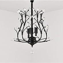 Amerikaanse kristallen kroonluchter thuis woonkamer lamp hotel veranda gangpad hal lamp luxe restaurant lamp post moderne ...