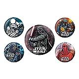 Jeu de 5 Badges Star Wars Dark Side Authentiques Dark Vador Lucasfilm