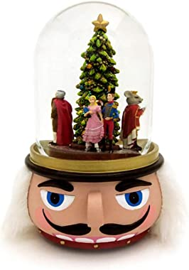 Nutcracker 100MM Musical Holiday Glitterdome Plays Tune Nutcracker Ballet