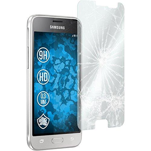 PhoneNatic 2 x Glas-Folie klar kompatibel mit Samsung Galaxy J1 (2016) J120 - Panzerglas für Galaxy J1 (2016) J120