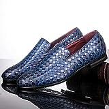 YLH Zapatos de Marca Trenza de Piel Oxfords Casual Conduce los Zapatos de los Zapatos de los Hombres de los Holgazanes Mocasines Italianos for los Hombres Pisos (Color : Blue, Shoe Size : 43 EU)