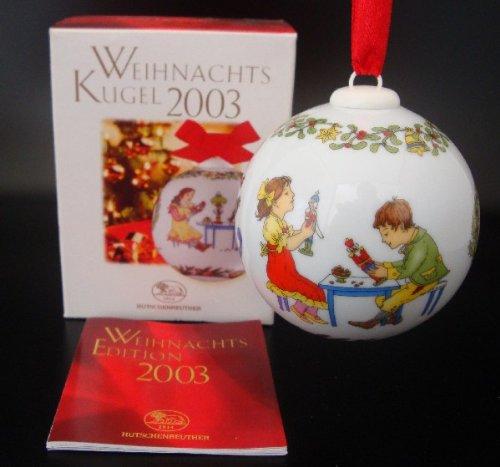 Hutschenreuther Weihnachtskugel 2003*Rarität, Porzellankugel, Baumanhänger, Anhänger, Baumschmuck, Weihnachten