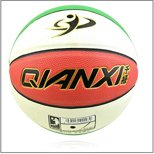 Great Deal! Basketball No.7 and No.5 Basketball Teenagers Wear Resistance Indoor and Outdoor, White-...