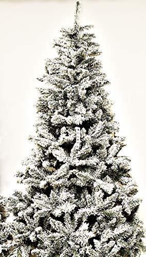 Albero di Natale Monterey Innevato Apertura Ad Ombrello 210 cm