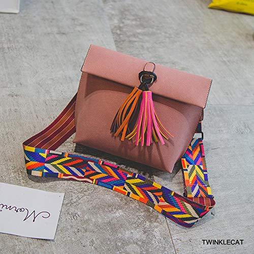 Borse a tracolla da donna nuove borse portatili portatili con nappe opache tendenza tracolla colorata per occhiali borsa a tracolla per riporre gli occhiali