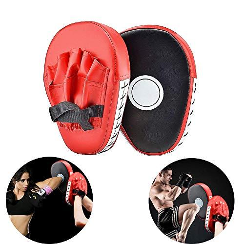 1 Par Almohadilla de Entrenamiento de Boxeo, Paos de Cuero PU Muay Thai Kick Manoplas Boxeo Almohadilla de Entrenamiento de Boxeo Boxing Artes Marciales taekwondo karate judo Jiu-jitsu Brasileño