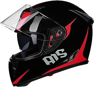 AIS 611 新入荷 バイクヘルメット フルフェイス メンズ フルフェイスヘルメット バイク用品 男女兼用 オールシーズン ヘルメット バイク用ヘルメット ダブルシールド PSC規格品 全て8色 (カラー2, M)