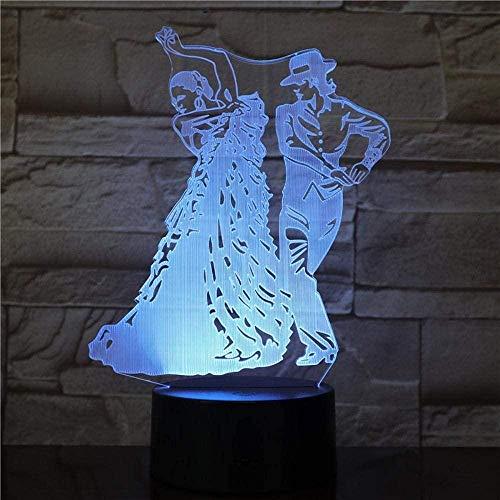BTEVX Luces de noche 3D para niños y niñas Diseño de flamencos de dormitorio USB Oficina para bebés Sueño visual para niñas Regalos Ilusión Lámpara de noche Luz para niños