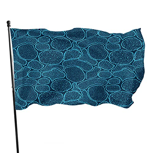 WONDERTIFY Virus Cells Under The Electron Microscope Flag 3X5 Ft Microbes Bacteria In The Scanning View Vivid Color Banner Sign For Yard, Advertising, Outdoor & Indoor Hanging Decor