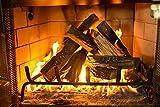 Barton 10-Piece Fireplace Logs Ceramic Logs Wood Fire Place Log Gas Heat Resistant Realistic Logs Stackable Logs Indoor...