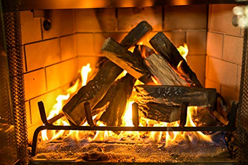 Barton 10-Piece Fireplace Logs Ceramic Logs Wood Fire Place Log Gas Heat Resistant Realistic Logs Stackable Logs Indoor or Outdoor Set