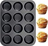 TeaRoo Silikon Backblech Backform Muffinform 12 Muffins, 38x27 cm, Antihaftbeschichtet,...