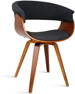 Artiss Miguel Dining Chairs Fabric Upholstered Bentwood Charcoal Set of 2