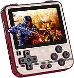 Consola de juegos de mano Rg280V, consola clásica retro con 2500 juegos clásicos, batería recargable de 2100 mAh, pantalla IPS de 2.8 pulgadas con reproductor de música y vídeo, regalo(rojo-B)