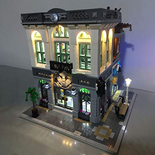 12che USB LED Licht Kit für Lego Brick Bank 10251 - LED Included Only, No Lego Kit