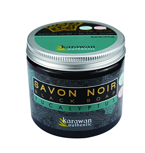 Karawan savon noir parfumé - eucalyptus - Pot de 200 ml