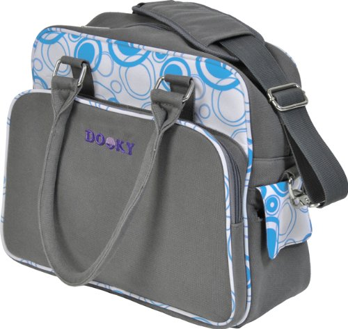 Originele Dooky 126571 Changing Bag, blauwe cirkels