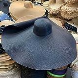 WDSZLH Sombreros de Paja Anchos de ala súper Grande para Mujer Sombrero de Playa Plegable Sombreros de Verano para el Sol UV Gorra de Escenario Vintage