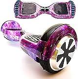 Magic Way Hoverboard - 6.5' - Bluetooth - Motor 700 W - Velocidad 15 km/h - LED - Patinete Eléctrico Auto-Equilibrio - para niños y Adultos (púrpura Galaxia)