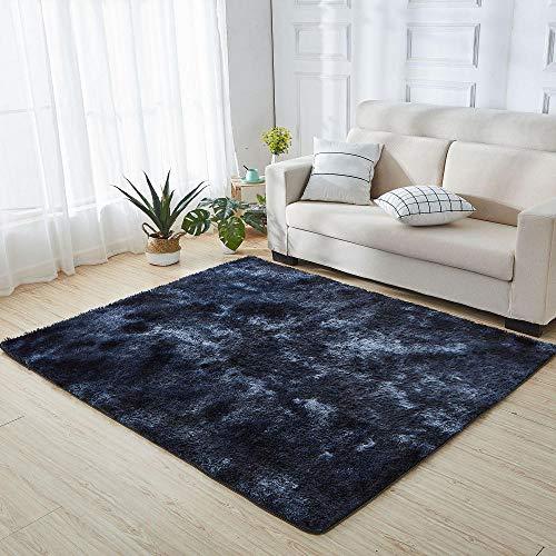 Alfombra para la Sala de Estar,Alta Pelusa,Alfombra Moderna.,Tinte Azul Marino,Talla200×300cm
