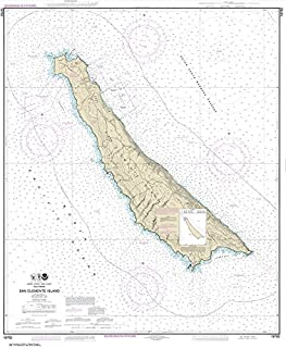 Paradise Cay Publications NOAA Chart 18762: San Clemente Island 41.6 x 34.2 (TRADITIONAL PAPER)