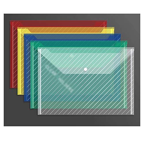 liushop Tavoletta Portablocco File Bag, Busta File delle cartelle Sacchetto di plastica di immagazzinaggio Trasparente for Forniture for Ufficio, Bagagli di Viaggio Clipboard Portablocco (Color : A)