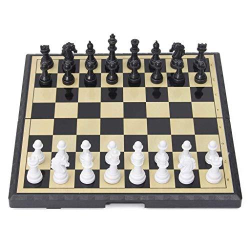 RTYUI Classic Chess Set Amerous 15' x 15' Travel Magnetic International Chess Set with Folding Chess Board Travel International Chess Board Games Set