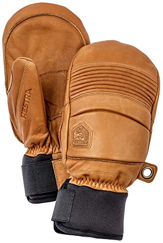 Hestra Leather Fall Line - Short Freeride Snow Mitten with Superior Grip for Skiing and Mountaineering - Cork - 11