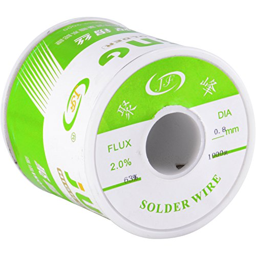 J&F Rosin Core Solder 63/37 Leaded Electronics Solder, 0.8mm (1 KG)