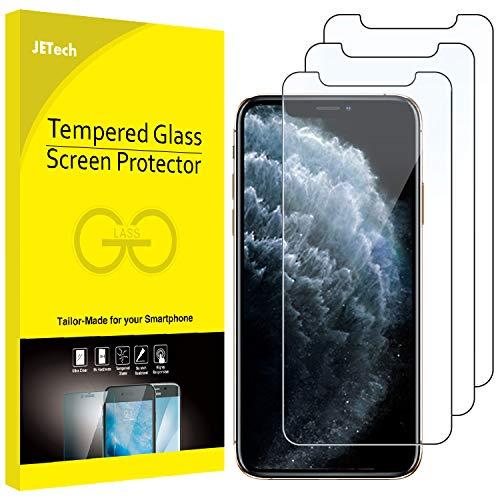JETech Protector de Pantalla Compatible iPhone 11 Pro, iPhone XS y iPhone X 5,8', Vidrio Templado, 3 Unidades