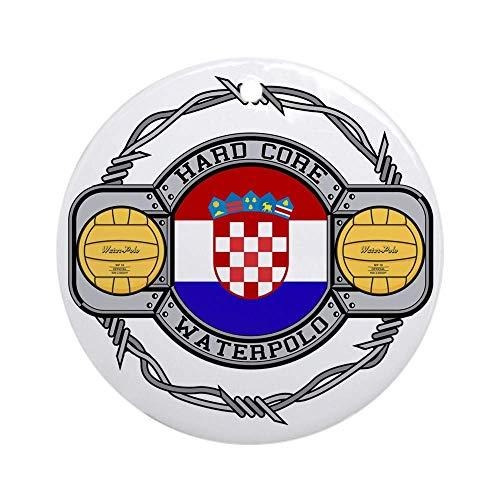 QgjayjqQ Kroatien Wasserball Ornament (rund) personalisierbar Keramik Urlaub Weihnachtsbaumschmuck Ideen 2019