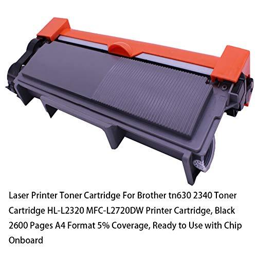 Cartucho de tóner de impresora láser para Brother tn630 Cartucho de tóner 2340 HL-L2320 Cartucho de impresora MFC-L2720DW, negro 2600 páginas Formato A4 5% de cobertura, listo para usar con chip i