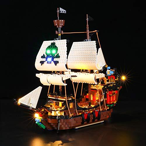 BRIKSMAX Kit de Iluminación Led para Pirate Ship,Compatible con Ladrillos de Construcción Lego Modelo 31109, Juego de Legos no Incluido