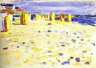 Wassily Kandinsky Beach Baskets In Holland 102x72 [Kitchen]