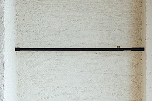 DRAWALINE001TensionRod突っ張り棒Aブラック幅75~115cm縦横兼用D-A-BK