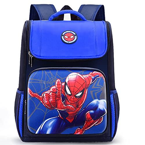 LXW Niños Spider-Man Cartoon Mochila Niños Back to School Charm Mochila Mochila - Regalo para niños Blue-28 * 37cm