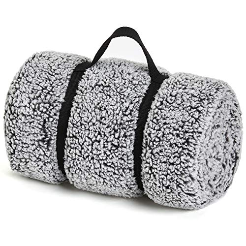 GONAAP Sherpa Throw Blanket Cozy Fluffy Warm Microfiber Fleece Shaggy Lightweight Teddy Plush for Coach Sofa Travel Outdoor Camping Charcoal 5060