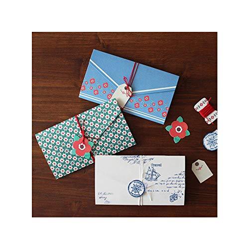 16 Stück Retro Karten Umschläge Vintage Geschenkkarten Unbelegte Anmerkungs-Karten-Set, für Weihnachten Valentinstag Geschenk DIY Hochzeit Geburtstagsfeier Jubiläum Grußkarten Postkarten