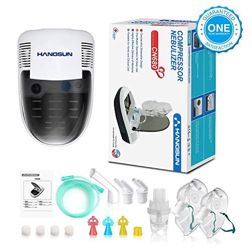 51ZnSwmuSCL - Hangsun Inhalador Nebulizador Electrico CN680 Compresor Bebe Adulto Para Inhalación De Medicamentos Líquidos