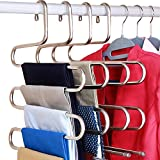 DOIOWN S-Type Stainless Steel Clothes Pants Hangers Closet Storage Organizer for Pants Jeans Scarf Hanging...