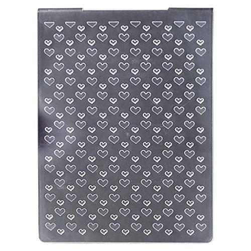 Carpeta de grabación en relieve de fondo de corazón con diseño de corte Troqueles de corte de papel para bricolaje Troqueles de scrapbooking Troqueles para scrapbooking Troqueles para hacer de de