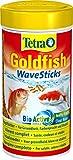 Tetra Goldfish Wave Sticks, Schwimmfähige Futtersticks in Wellenform für eine ausgewogene, nährstoffreiche Ernährung Ihrer Goldfische, 250 ml Dose